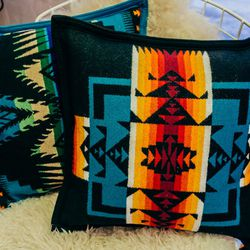 <b>Pendleton</b> pillows with Native American-inspired designs, $68