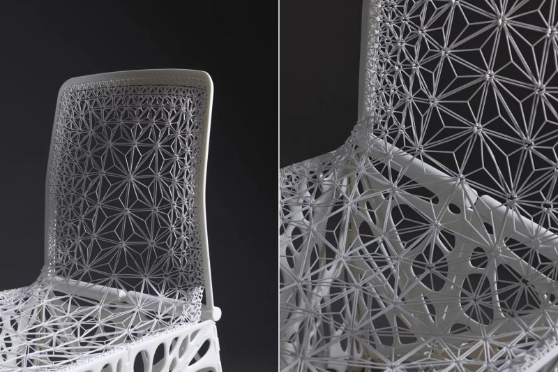 Close up of chair's pattern