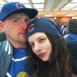 My Girlfriend Nicole in her new Cubs Slouch Hat
