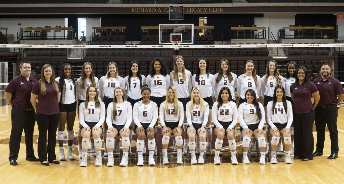The Texas State Bobcats team photo.