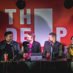 The Verge crew got together in The Deep End for a special SXSW-themed recording of Vergecast Live with Nilay Patel, Dieter Bohn, Casey Newton and Ashley Carman.