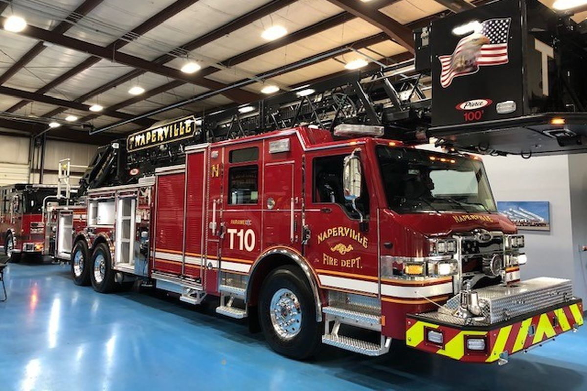 A Naperville firefighter was injured responding to a house fire that left several residents displaced May 9, 2020, in the west suburb.