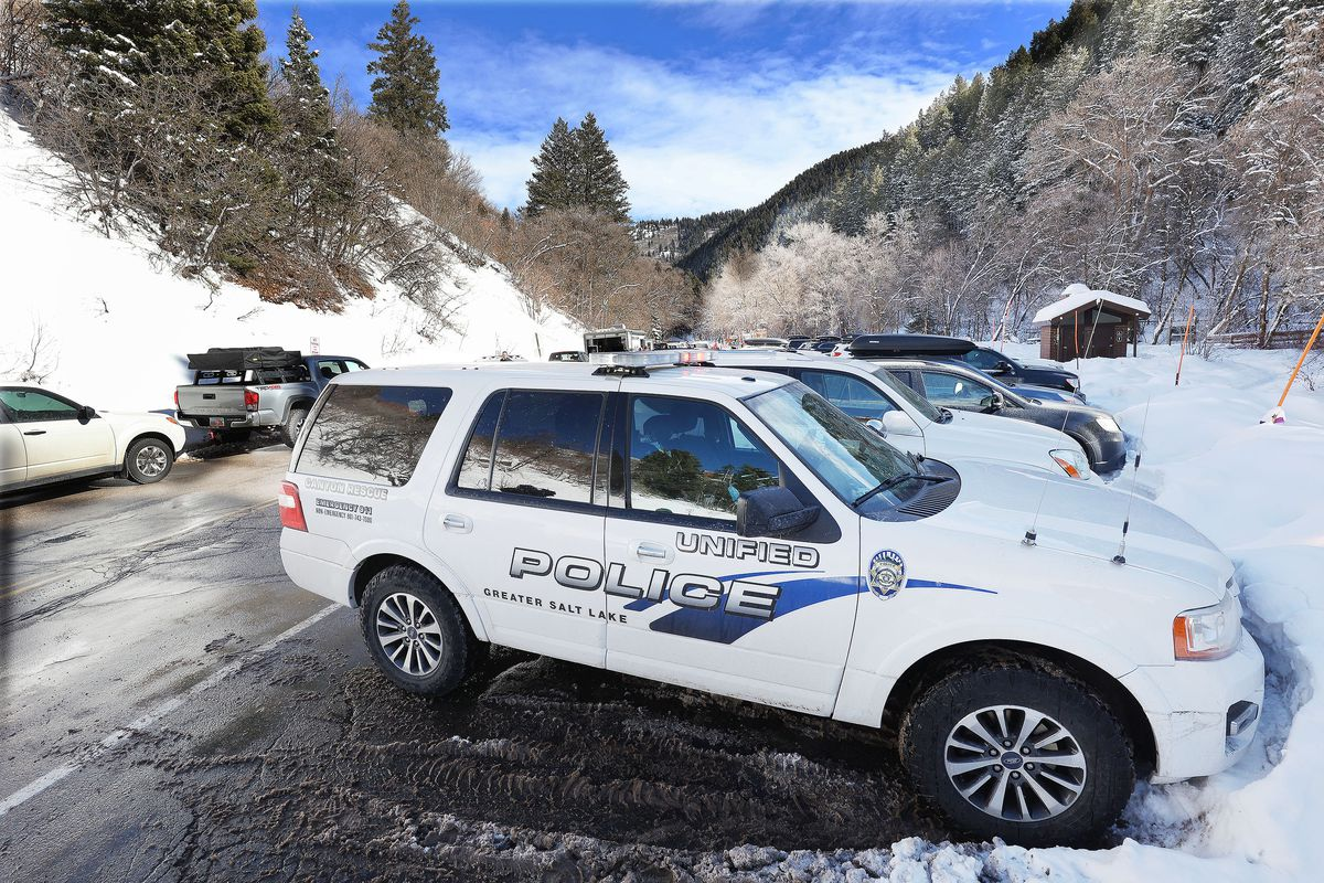 Unified Police respond at an avalanche scene in Millcreek Canyon in Salt Lake County on Saturday, Feb. 6, 2021. Four skiers died in the slide while four others survived. Police identified the victims Sunday.