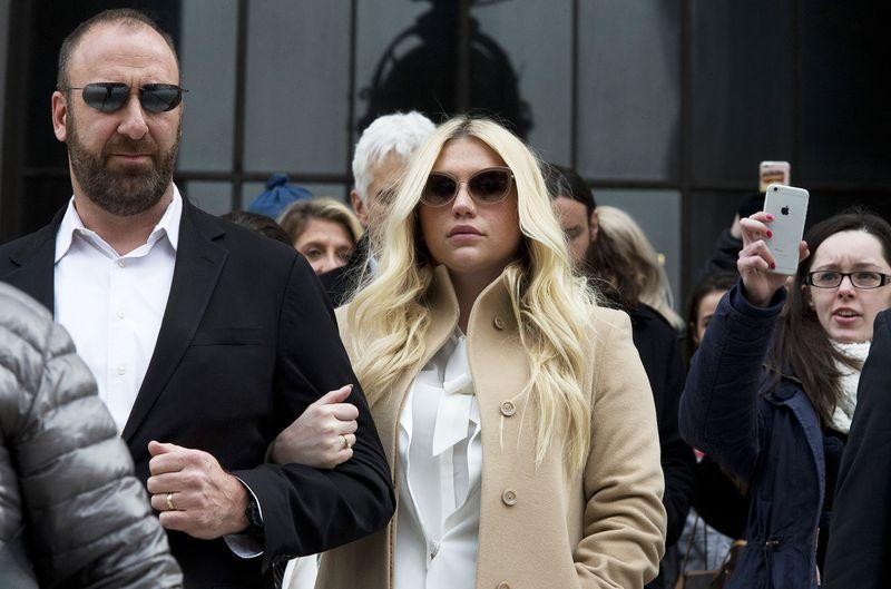 Kesha leaving court in February 2016