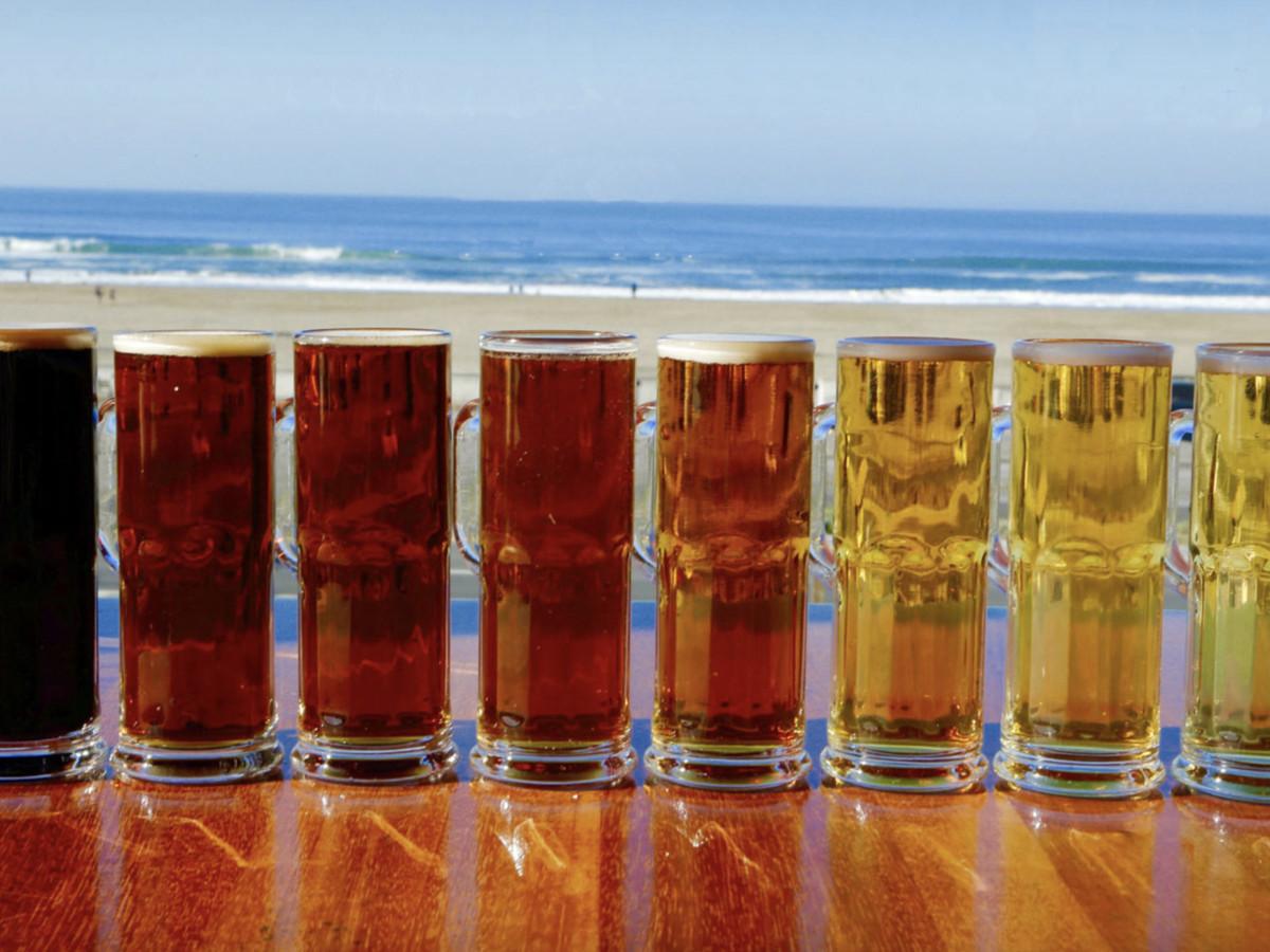 Beer flight at Park Chalet
