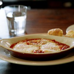 """Eggs amatriciana from Maialino by <a href=""""http://www.flickr.com/photos/naftels/5606064858/in/pool-eater/"""">naftels</a>."""