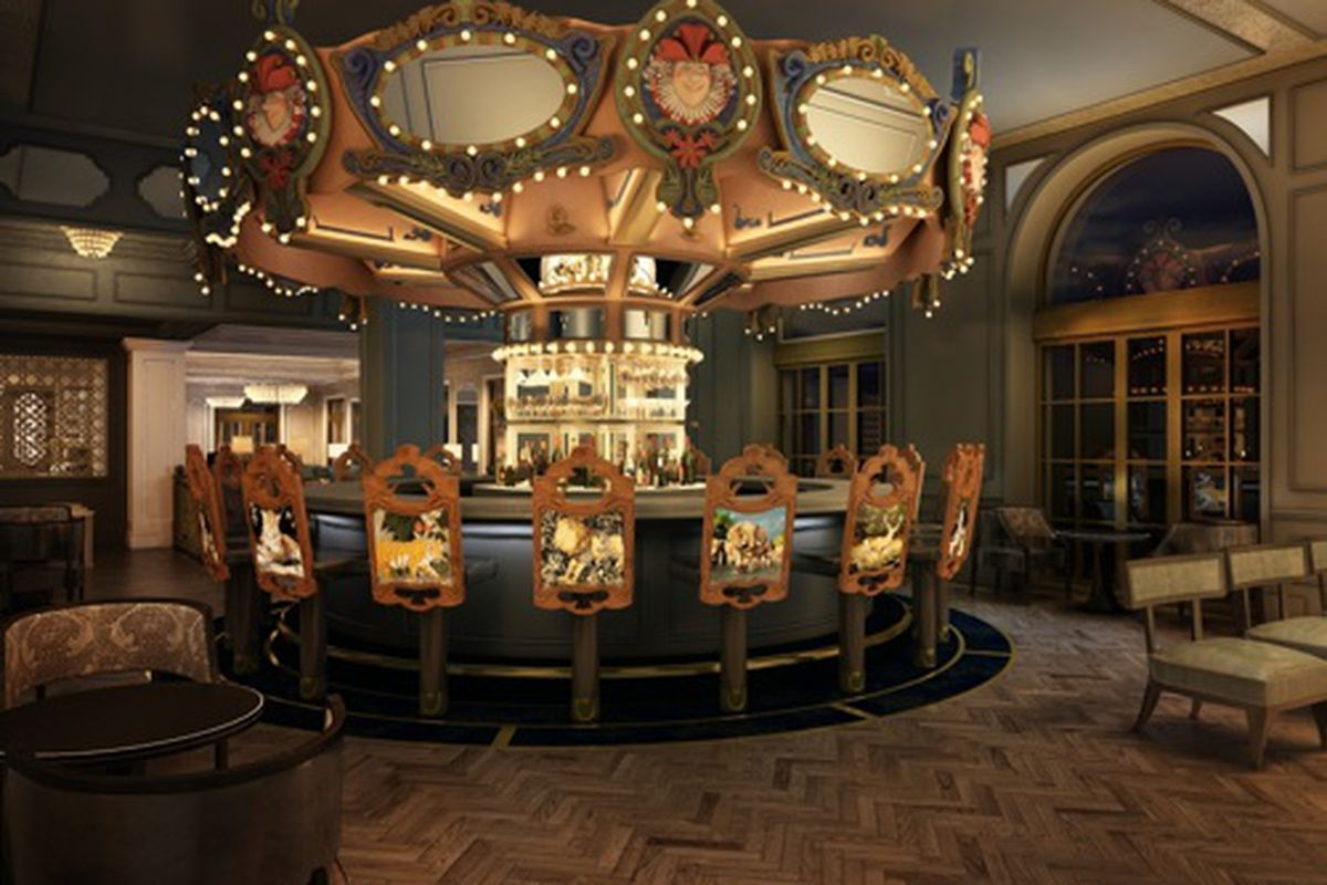 A rendering of the remodeled Carousel Bar.