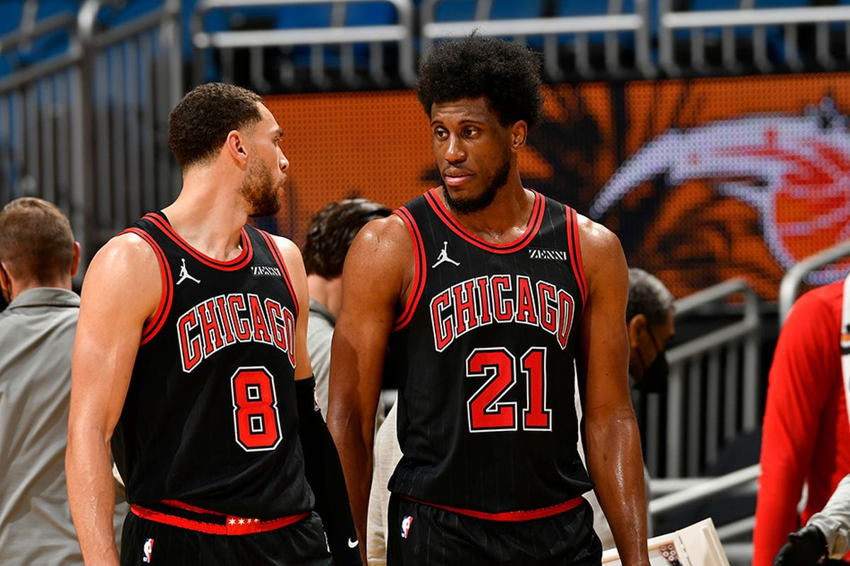 Zach LaVine and Thad Young will remain in the Bulls' starting lineup.