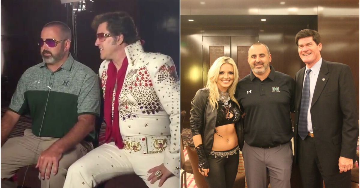 Hawaii Coach Nick Rolovich Brings Elvis And Britney