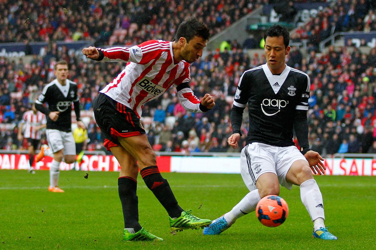 Scocco in action against Southampton