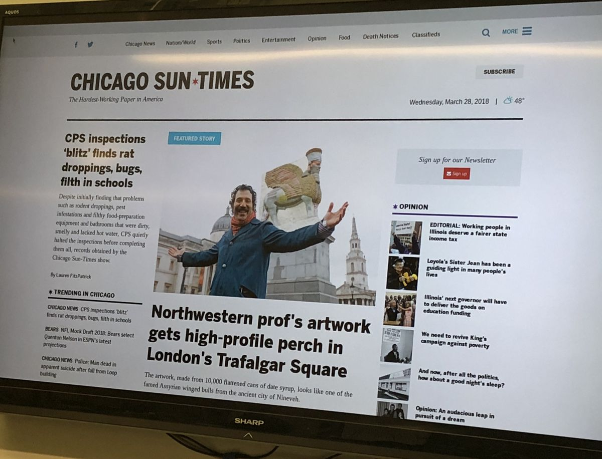 Both the website and newspaper have a cleaner user experience, larger photos and streamlined navigation. | Sun-Times Staff