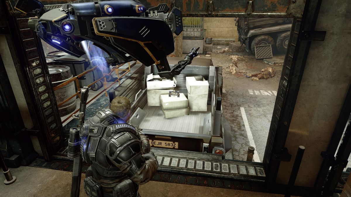 Gears 5 Act 1 Chapter 4 The Tide Turns component location in a truck bed