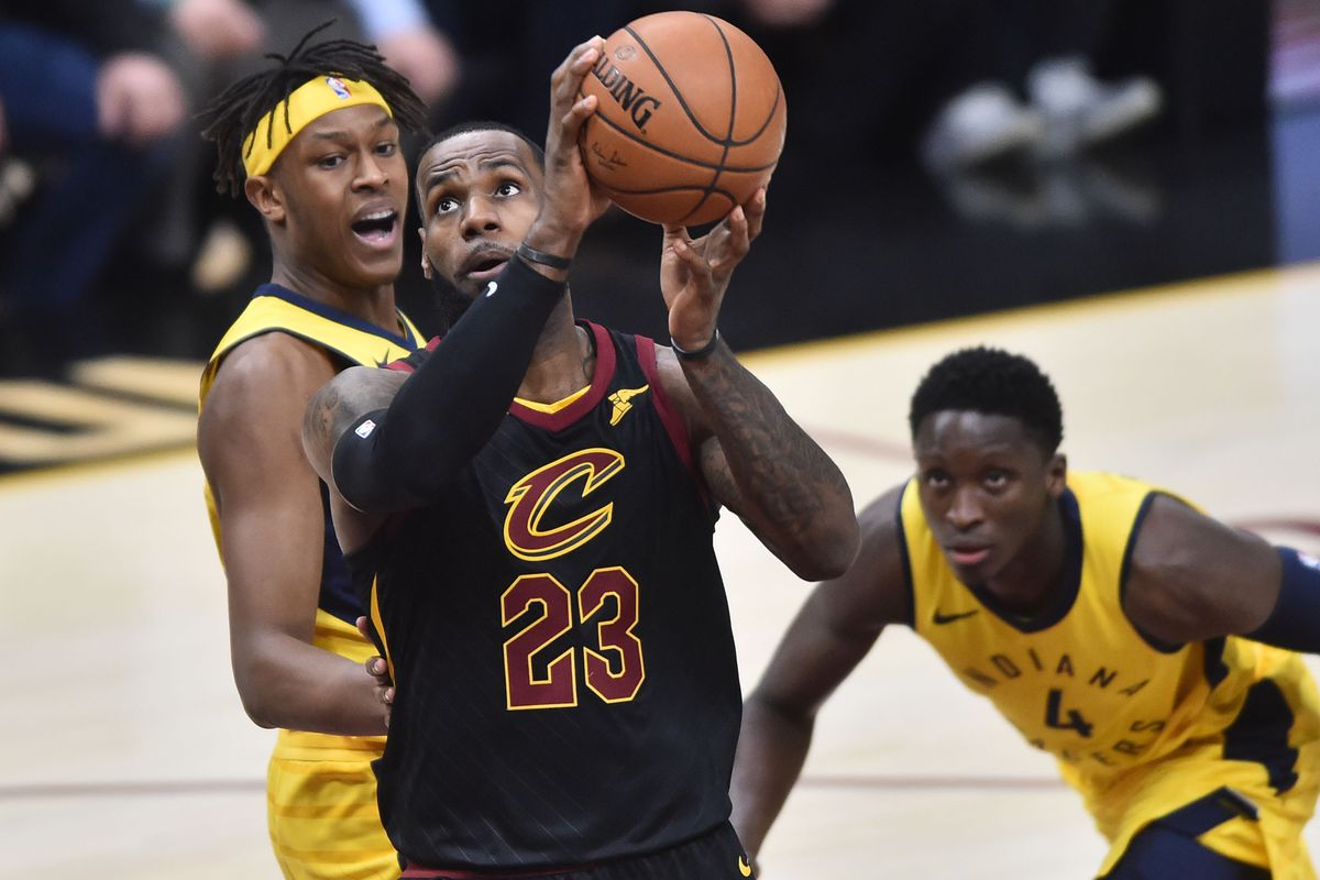 3968121fbbaa Cavs vs. Pacers  LeBron James refuses to let Cleveland fall to a 0-2 ...