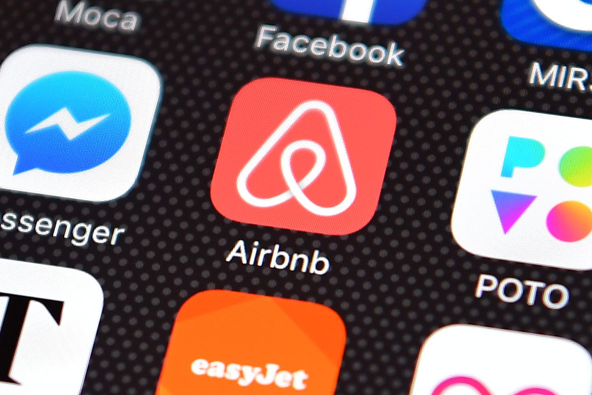Popular Smart Phone Apps Of 2016: photo of AirBnB icon on phone screen