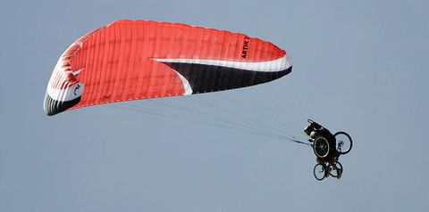 Gliding: A chance to fly: A special wheelchair paraglider