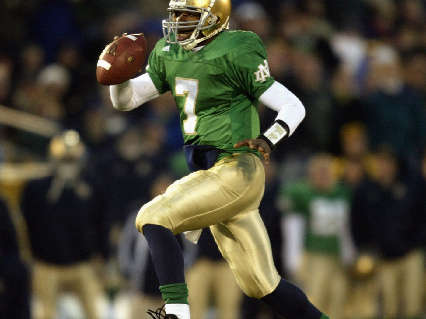 251be9b679e Will Notre Dame Wear Green Jerseys Against The Michigan Wolverines? - One  Foot Down