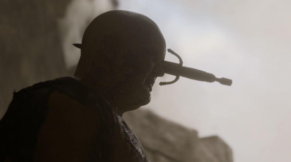Game of Thrones S08E05 The Mountain knife