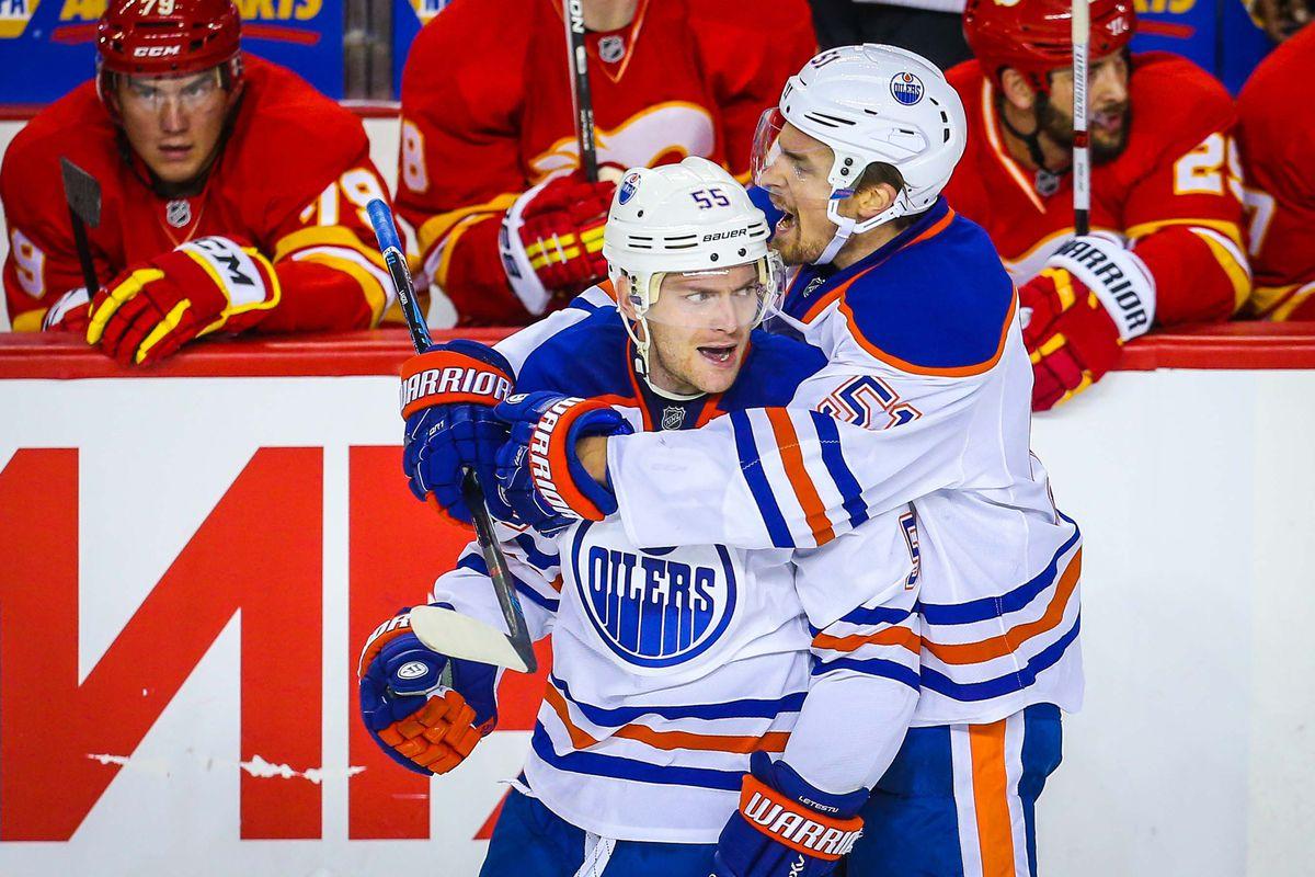 Mark Letestu scored a shorthanded goal in Edmonton's 5-3 victory in Calgary.