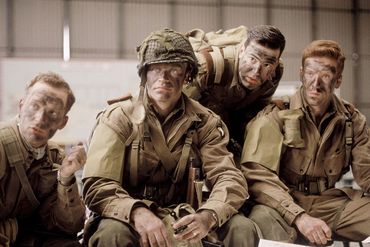 Band of Brothers - Easy Company in fatigues and face paint
