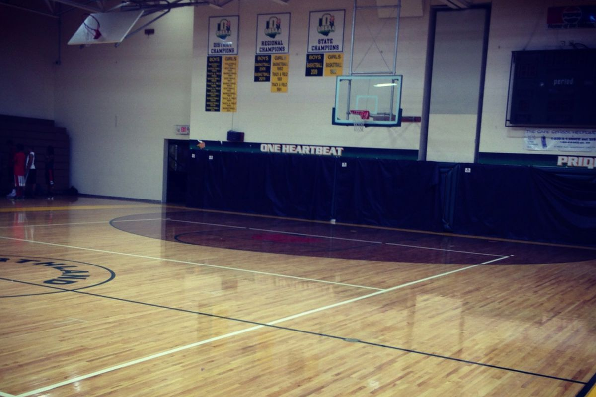 Northland features a brand new gym floor for 2013-'14