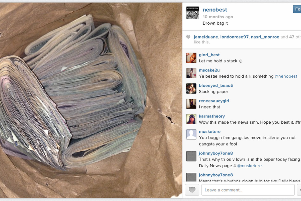 Neno Best money bag on Instagram