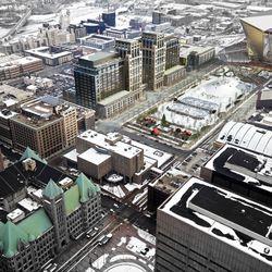 Aerial with Stadium - Winter