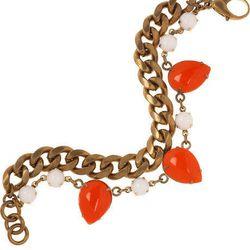 """<a href=""""http://www.theoutnet.com/product/168615""""><b>Lulu Frost<b> brass teardrop bracelet</a>, $97.50 (was $325)"""