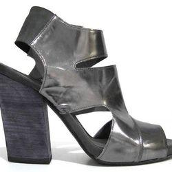 Glance Gunmetal heeled sandal, reg $565. Sale price: $275.
