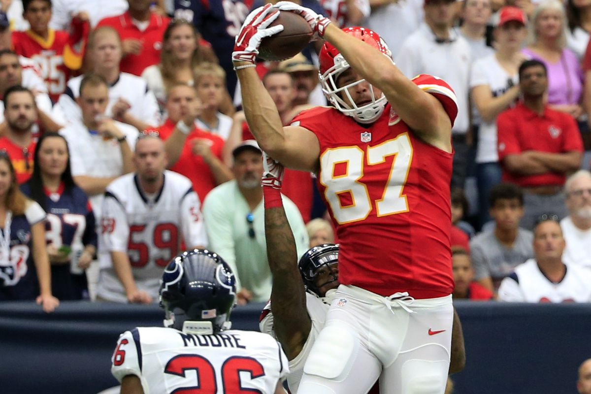 The first half was all about Travis Kelce.