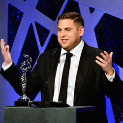 <b>Top Moment #6</b>: <i>Wolf of Wall Street</i>'s Jonah Hill presenting his pal Judd Apatow with the Distinguished Collaborator Award. He revealed that his mom was a costume designer, so being invited to this ceremony was a huge honor for him.  [Photo vi