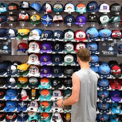 Other 2019 NFL Draft hats being sold compared to the Browns' hat.