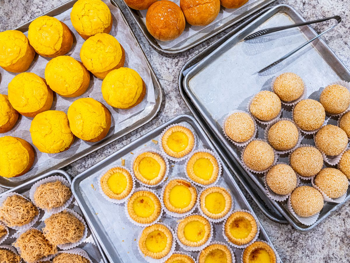 Custard tarts and other dim sum from Mark's Duck House in Falls Church