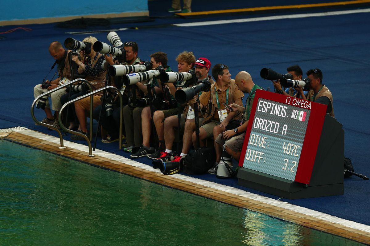 Photographers at the Rio Olympics
