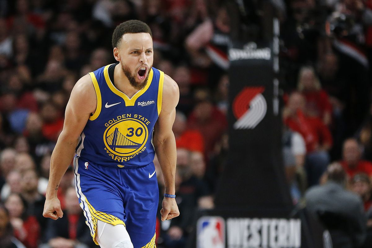 4043f3d1bad Steph Curry has scored more than thirty points in four straight playoff  games. Photo by Jonathan Ferrey/Getty Images