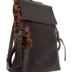 "<strong>Zara Man</strong> Animal Print Rucksack in Black, <a href=""http://www.zara.com/us/en/man/bags/travel/animal-print-rucksack-c269250p1347540.html"">$279</a>"