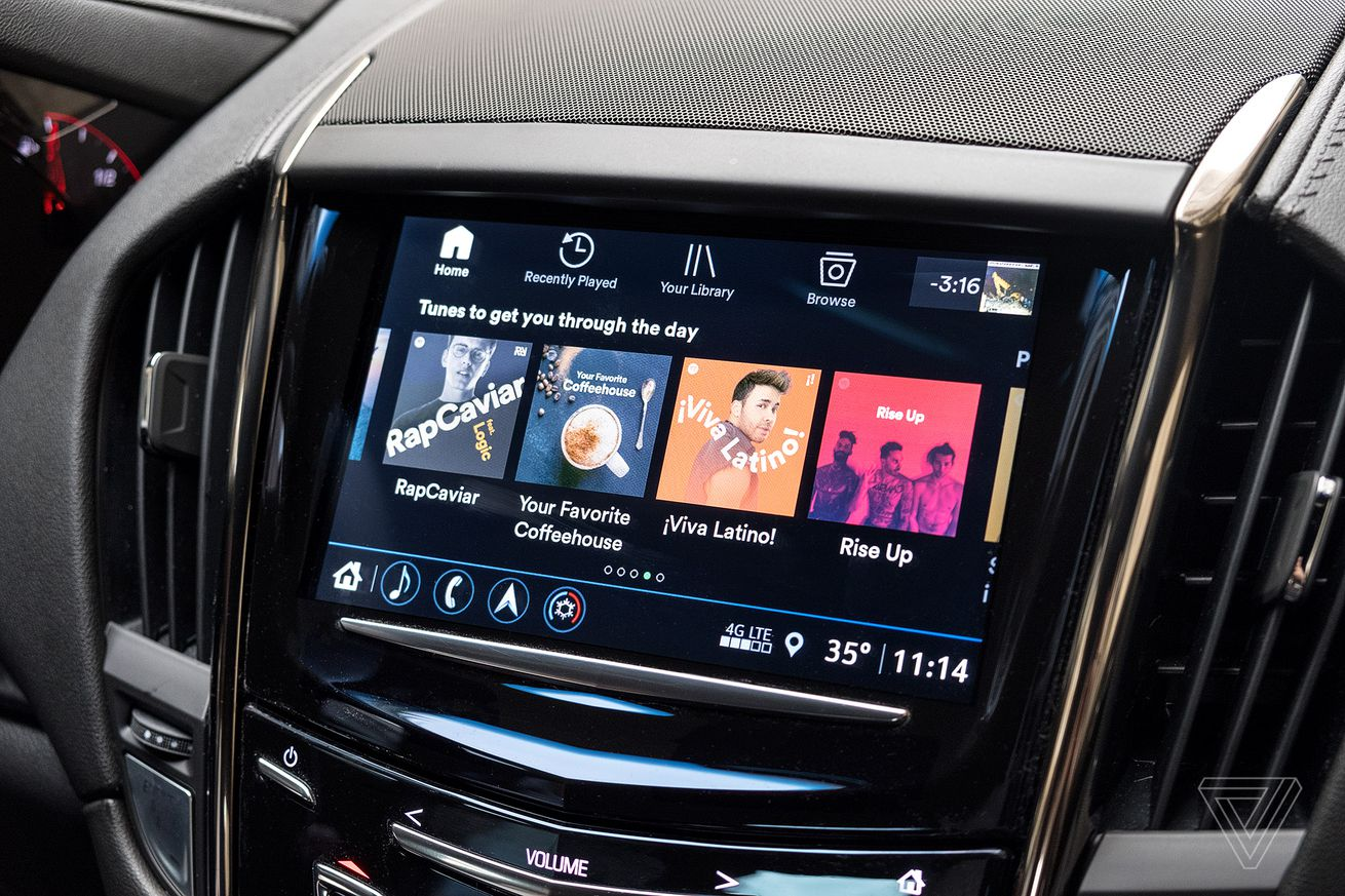 spotify launches a sleek standalone app for cadillac vehicles