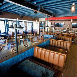 Spacious, bright restaurant has almost a nautical feel