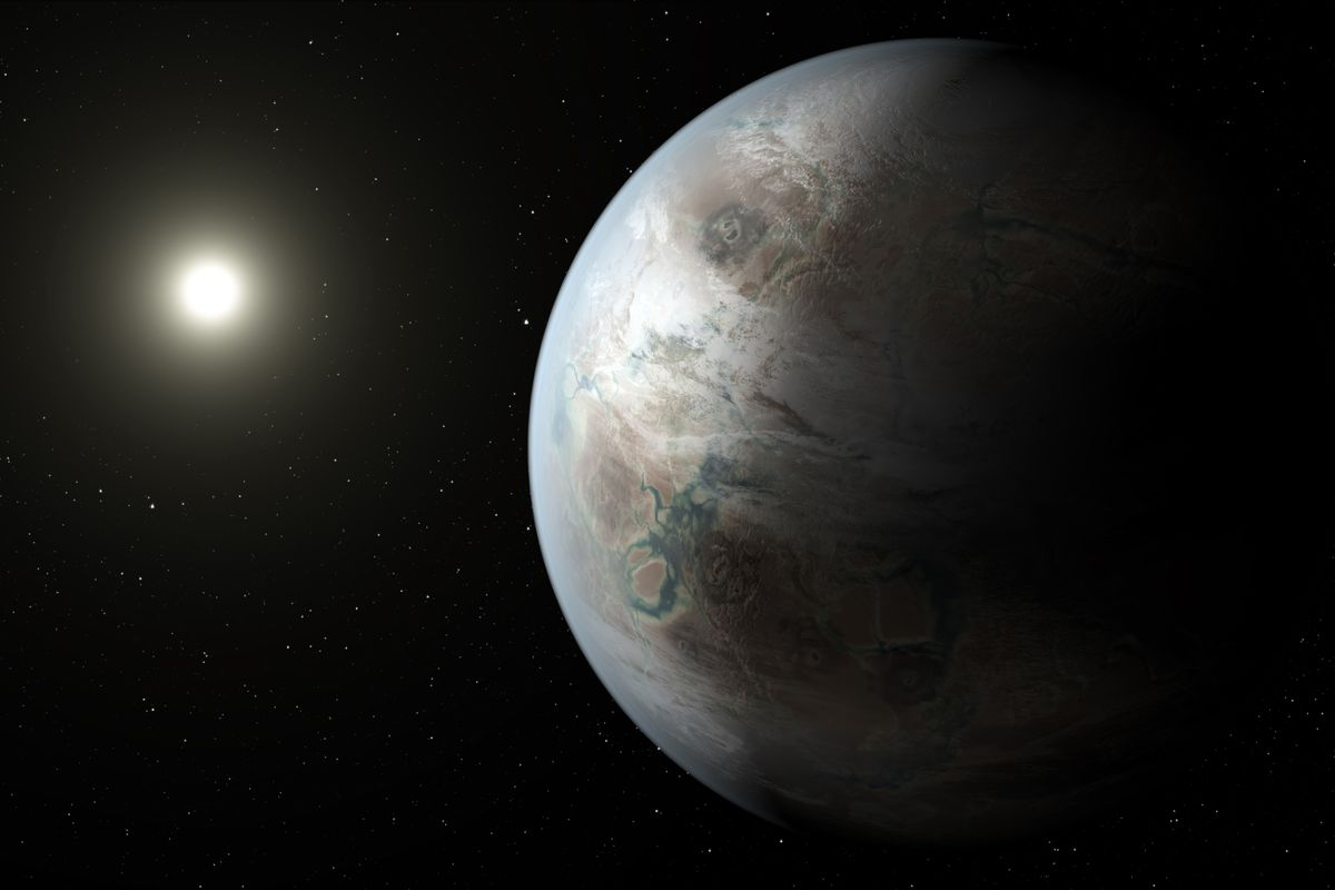 An artist's guess of what Kepler 452b could look like.