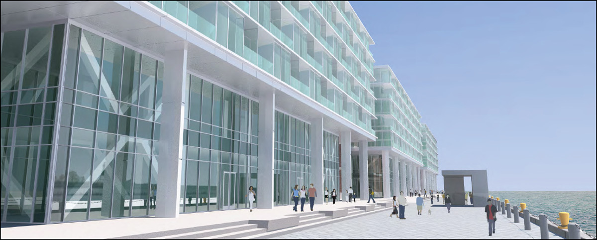The Chicago Plan Commission also OK'd a 240-room hotel along the south side of Navy Pier.    Rendering provided by Chicago Plan Commission
