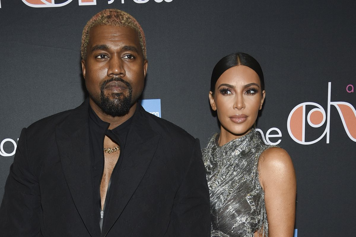 """Kanye West and Kim Kardashian West attend """"The Cher Show"""" Broadway musical opening night on Dec. 3, 2018, in New York."""