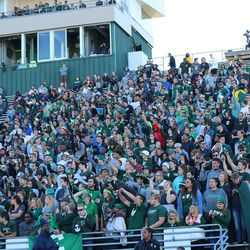 The EMU student section showed up pretty well