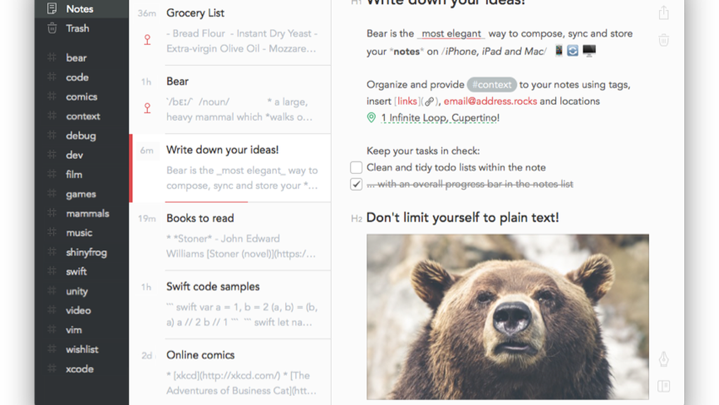 Why I finally replaced Evernote with Bear - The Verge