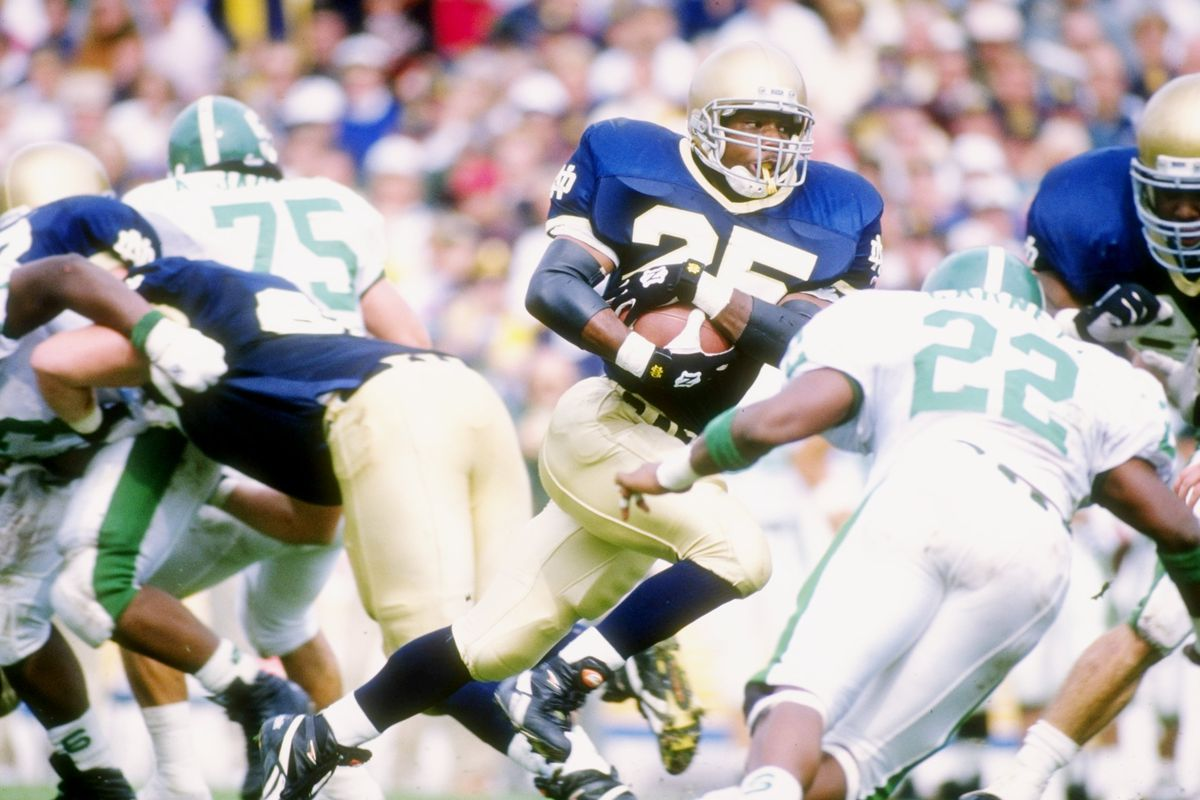 notre dame's Randy Kinder against Michigan State