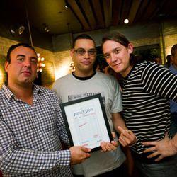 Team Rubirosa with their People's Choice Award.