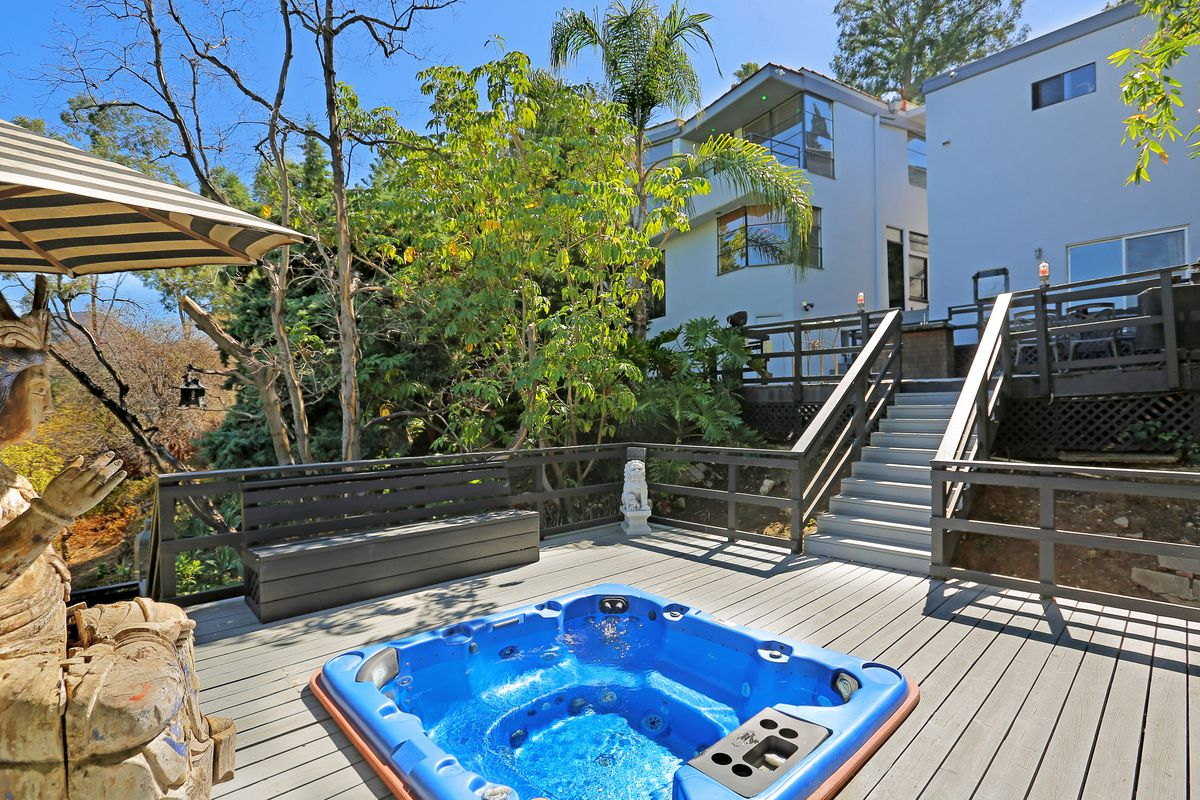 View of house from hot tub