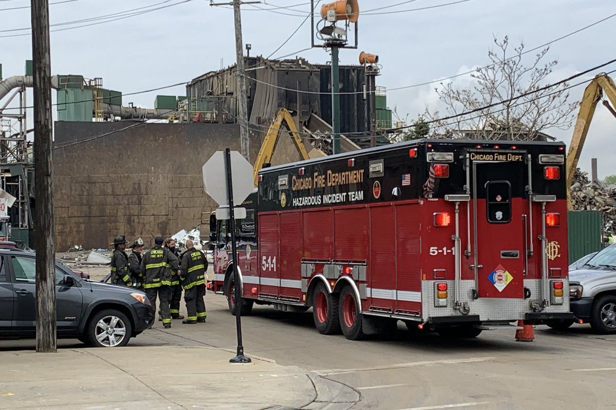 A hazmat incident was reported May 18, 2020, at the General Iron Industries metal scrap yard in the 1900 block of North Clifton Avenue.