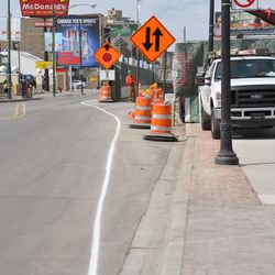 Traffic lane marking repainted on Clark, just so there's no confusion -