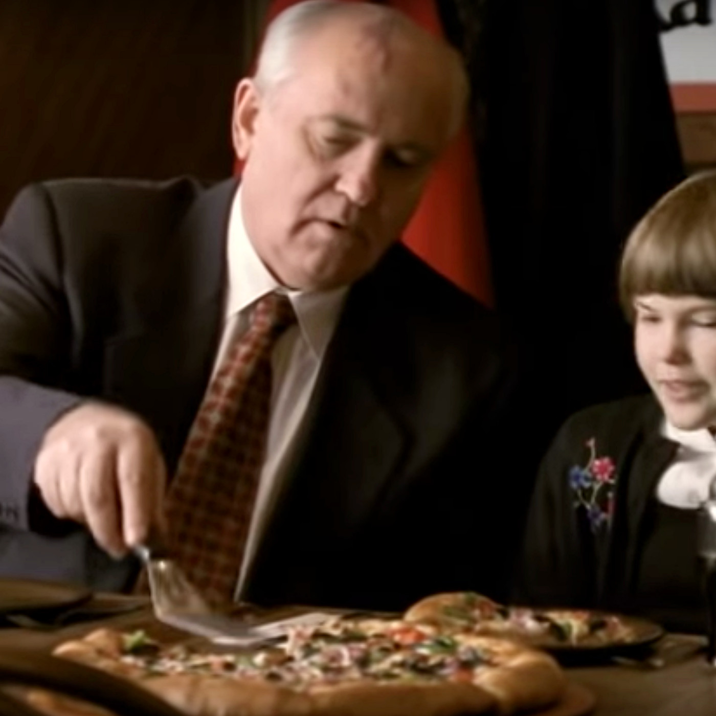 Former Soviet Leader Gorbachev Starred in a Pizza Hut Commercial in 1997 -  Eater