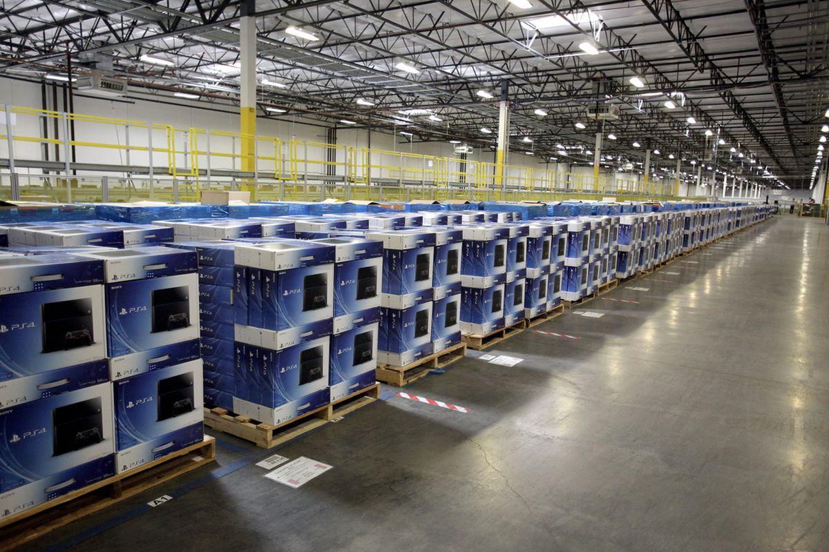 Amazon warehouse PS4s