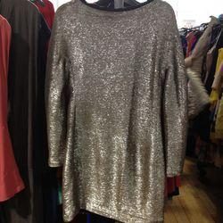 <b>MSGM</b> metallic long sleeve dress, $115 (from $575)